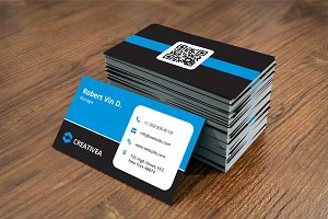 Simple Dark Business Card