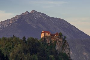 Bled Castle on a spring evening