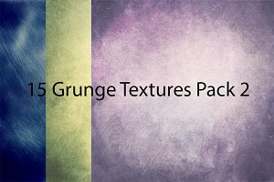 50% OFF! 15 Grunge Textures Pack 2