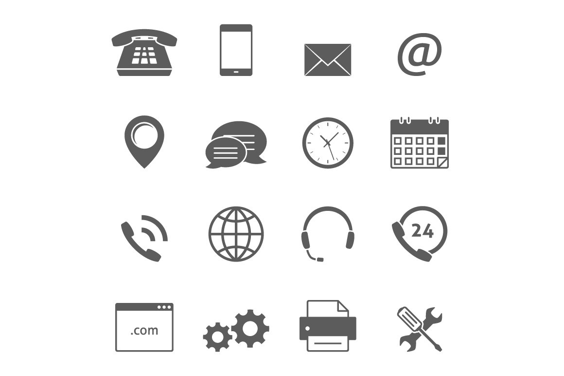 contact us icons icons creative market