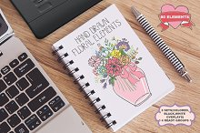 Doodle flowers.Hand drawing vector01