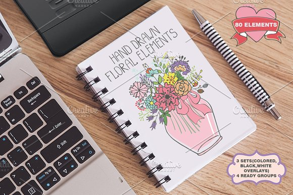 Doodle flowers.Hand drawing vector01 - Illustrations