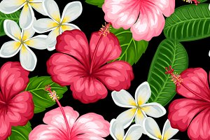 Patterns with tropical flowers.
