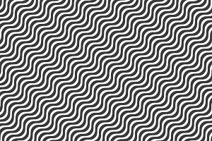Black wavy line pattern