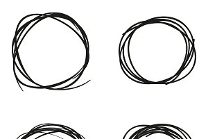 Scribble circles set