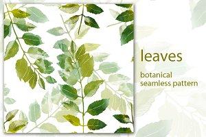 leaves: botanical pattern