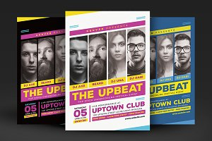 Upbeat Music Party Flyer