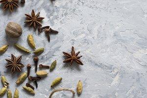 Oriental spices Indian tea Masala