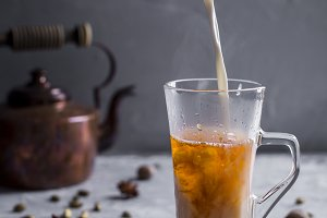 Masala Indian tea with spices