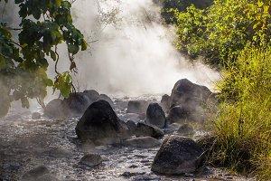 Natural hot Springs.