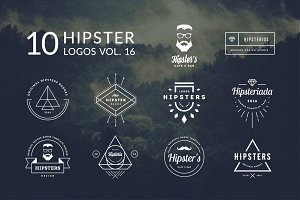 10 Hipster Logos Vol. 16