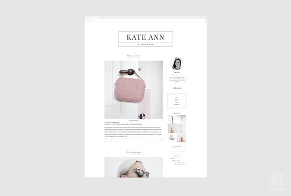Fashion Magazine Style Blogger Theme in Themes - product preview 3