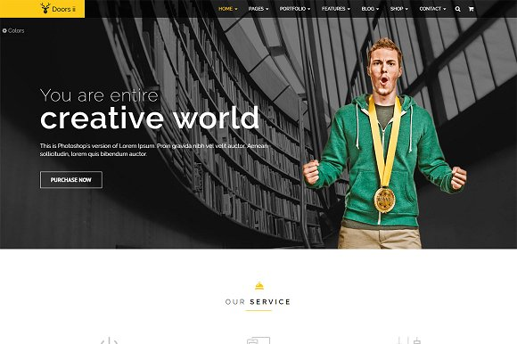 Doors Two Bootstrap HTMl Template