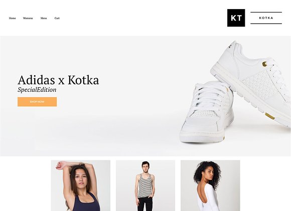 Kotka Big Cartel Theme ~ Website Templates ~ Creative Market