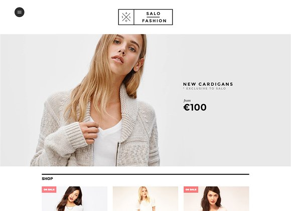 Salo big cartel theme website templates on creative market for Big cartel themes templates free