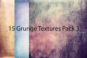 50% OFF! 15 Grunge Textures Pack 3