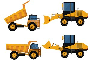 Set of icons construction equipment