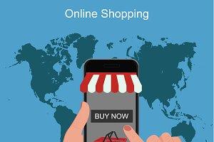 online shopping, cellphone