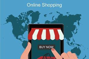 online shopping, tablet