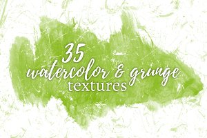 35 Watercolor & Grunge Textures