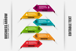 Business Arrow Infographic Elements