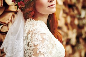 Beautiful red hair bride