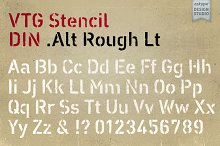Vtg Stencil DIN - Alt Rough Lt