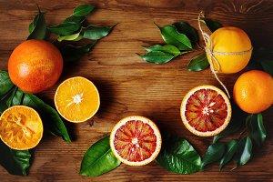 Orange fruit among green leaves