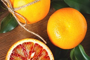 Blood orange fruit close up