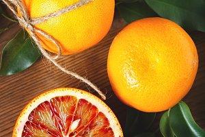 Blood orange fruit close up