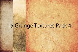 50% OFF! 15 Grunge Textures Pack 4