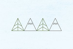 Mountain Lines Pattern