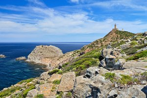 Sardinia - Capo Sandalo with lighthouse
