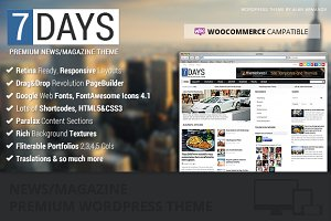 7Days Wordpress News/Magazine Theme