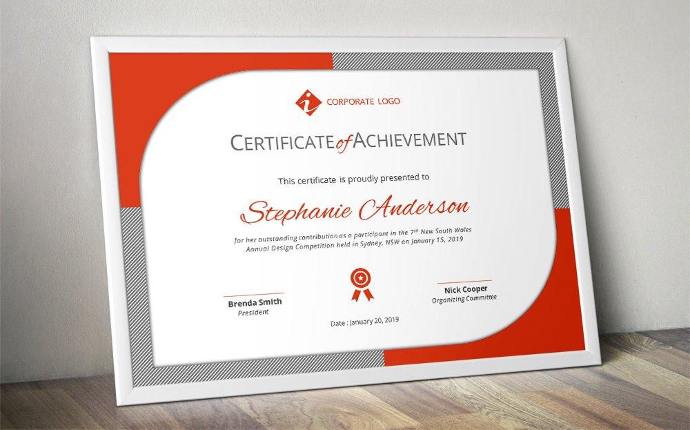 modern certificate template docx