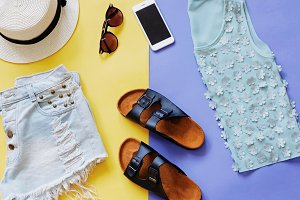 Fashion summer with accessories