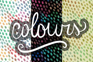 Colorful watercolor pattern