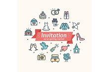Wedding Invitation. Vector