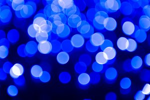 Blue abstract bubble lights