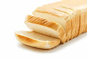 Close up of Tasty sliced bread