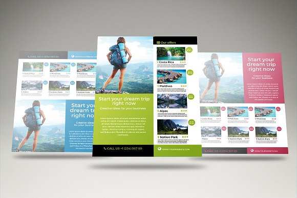 travel vacation flyer template flyer templates creative market