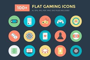 100+ Flat Gaming Vector Icons