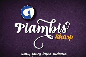 Piambis Sharp open type font
