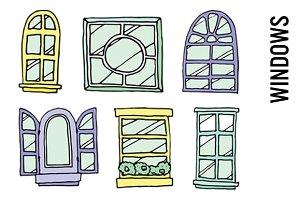 Windowsill Clip Art - PNGs