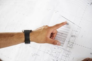 Young architect hand