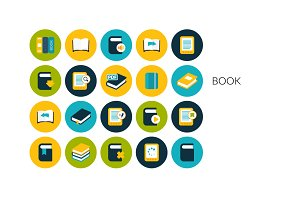 Flat icons set - Book