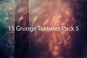 50% OFF! 15 Grunge Textures Pack 5