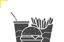 Fast food icon. Vector