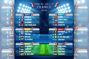 EURO 2016 Finals Schedule