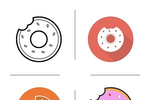 Doughnut icons. Vector